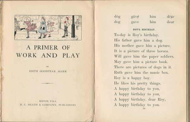 "The earliest source for the full text of ""Happy Birthday to You."